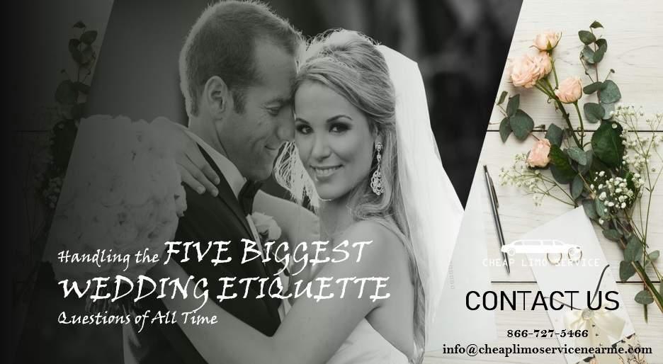 Five Biggest Wedding Etiquette Questions